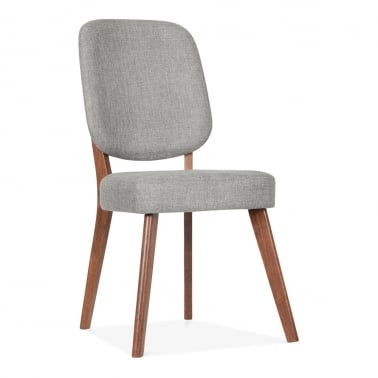 Pinto Upholstered Dining Chair - Walnut / Grey