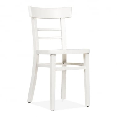 Leena Wooden Dining Chair - White