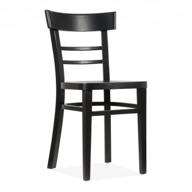 Leena Wooden Dining Chair - Black