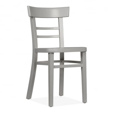 Leena Wooden Dining Chair - Grey