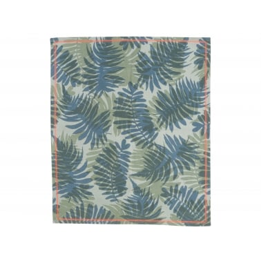 Palm Print Cotton Tea Towel - Green