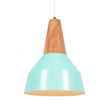 Stockholm Cone Metal Pendant Light - Peppermint