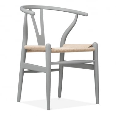 Wishbone Chair - Grey / Natural