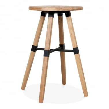Bastille Round Wooden High Table - Natural