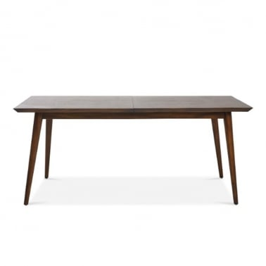 Aspen Small Extending Dining Table, Solid Acacia, Dark Brown 150cm