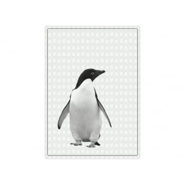Hexagon Penguin Tea Towel - White