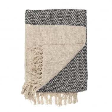 Scandi Style Light Cotton Throw, Natural