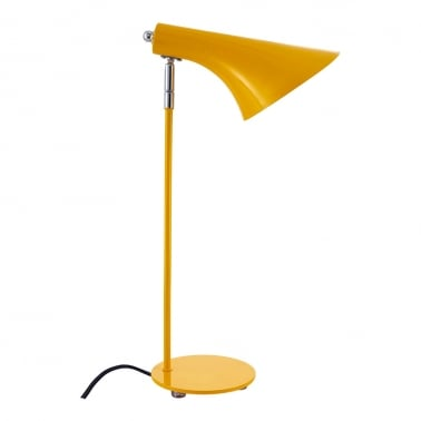 Biretta Metal Desk Lamp, Reading Light, Yellow