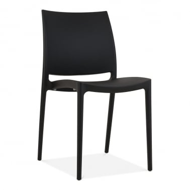 Eden Plastic Outdoor Chair, Black