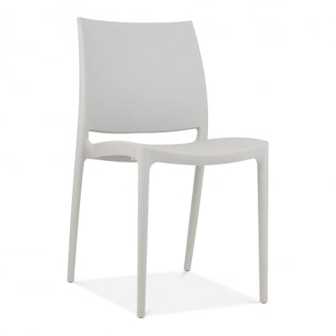 Eden Plastic Outdoor Chair, Light Grey