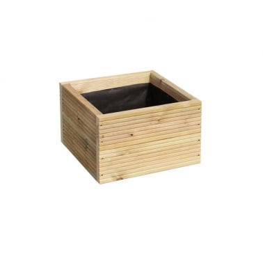 Warwick Square Wooden Planter, Small 40cm
