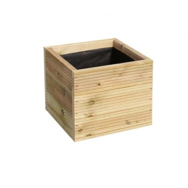 Warwick Square Wooden Planter, Medium 50cm