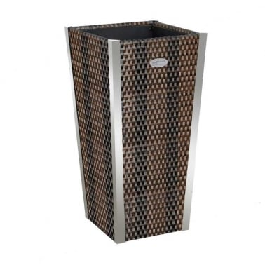 Poly-Rattan Garden Planter Pot, Tall 70cm
