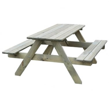 Children's Jacob 4-6 Seater 'A' Frame Picnic Table, Natural Pine