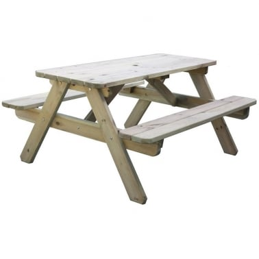 Jacob 6 Seater 'A' Frame Picnic Table, Natural Pine
