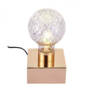 Beam Crystal Style Table Lamp, Gold