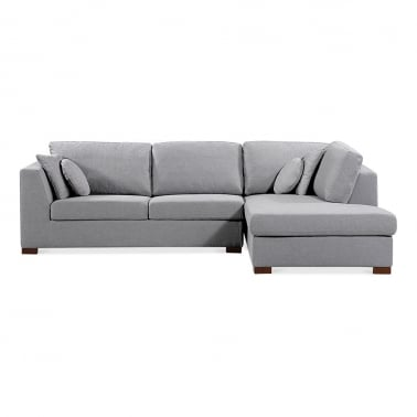 Harrison Right Hand Corner Sofa, Fabric Upholstered, Grey