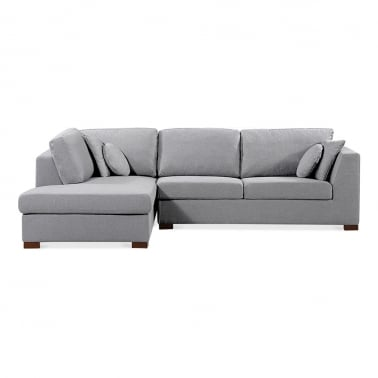 Harrison Left Hand Corner Sofa, Fabric Upholstered, Grey