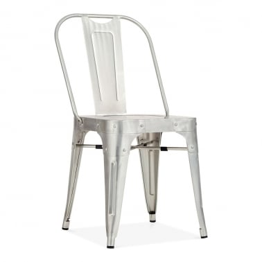 Shoreditch Metal Side Chair, Galvanised