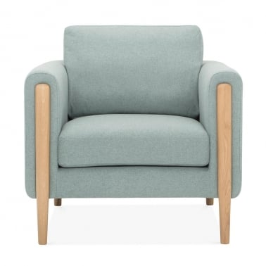 Crawford Armchair, Fabric Upholstered, Soft Teal