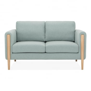 Crawford 2 Seater Small Sofa, Fabric Upholstered, Soft Teal