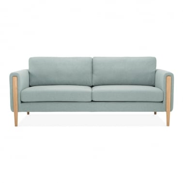 Crawford 3 Seater Sofa, Fabric Upholstered, Soft Teal
