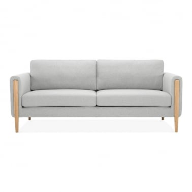 Crawford 3 Seater Sofa, Fabric Upholstered, Light Grey