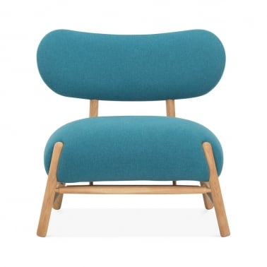 Xena Winged Accent Chair, Fabric Upholstered, Aqua