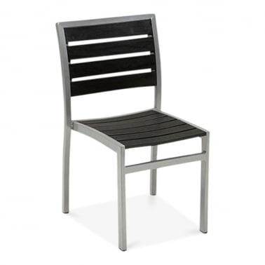 Milan Metal Outdoor Dining Chair, Black