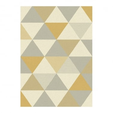Focus Floor Rug, Pure Polypropylene, Yellow Triangles