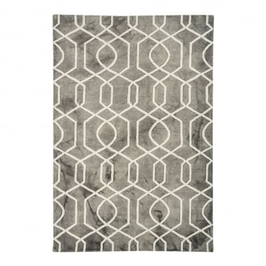 Fresco Floor Rug, 100% Pure Wool, Grey