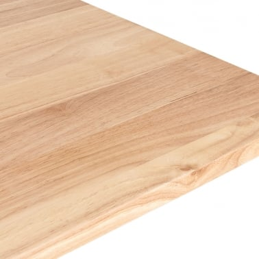 Square Cafe Table Top, Solid Oak Wood, Natural Finish
