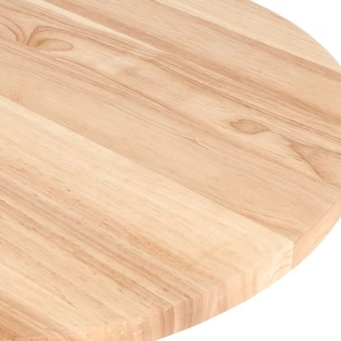 Round Cafe Table Top, Solid Oak Wood, Natural Finish