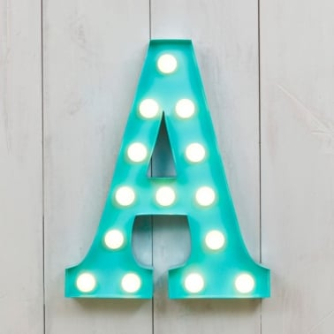 "Metal 11"" Mini L.E.D. Letter Lights A - Choice of Colour"
