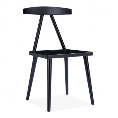 Victory Dining Chair, Solid Wood, Black