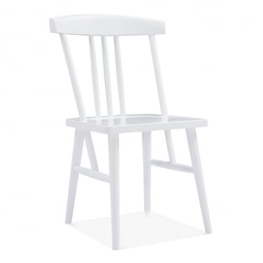 Windsor Trinity Dining Chair, Solid Wood, White