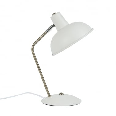 Hood Metal Desk Lamp, White