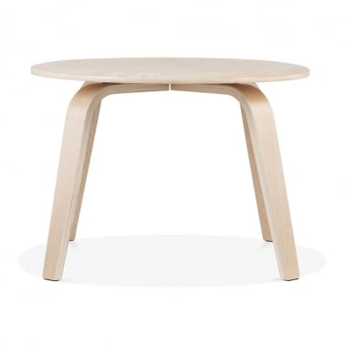 Ella Round Coffee Table, Birch Wood, Natural