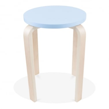 Bella Short Stool - Light Blue 45cm