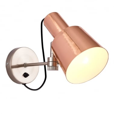Astrix Angled Wall Light, Copper