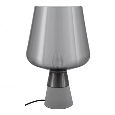 Lunar Glass Table Lamp, Grey and Concrete