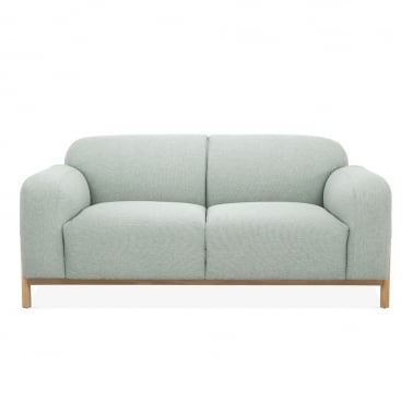 Bergen 2 Seater Small Sofa, Fabric Upholstered, Soft Teal