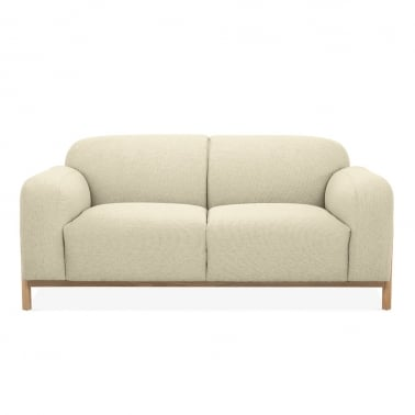 Bergen 2 Seater Small Sofa, Fabric Upholstered, Beige
