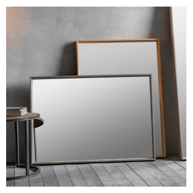 Empire Rectangle Wall Mirror, Solid Wood Frame