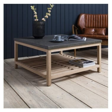 Arden Square Coffee Table, Oak and Concrete Effect