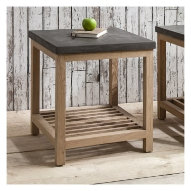 living room side tables furniture. arden square side table, oak and concrete effect living room tables furniture o