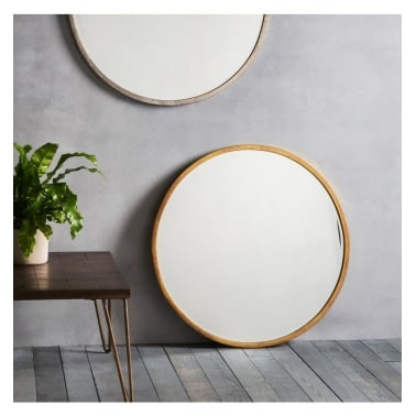 Viola Round Antique Metal Wall Mirror