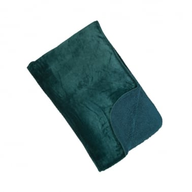 Cosy Soft Fleece Throw, Teal