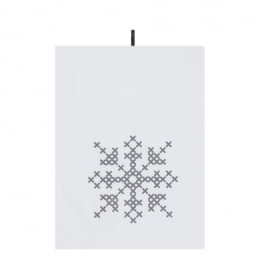 Christmas Cross Stitch Design Cotton Tea Towels, 2 Pack