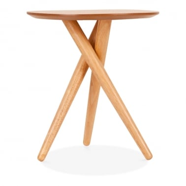 Boden Wooden Tripod Side Table, Natural